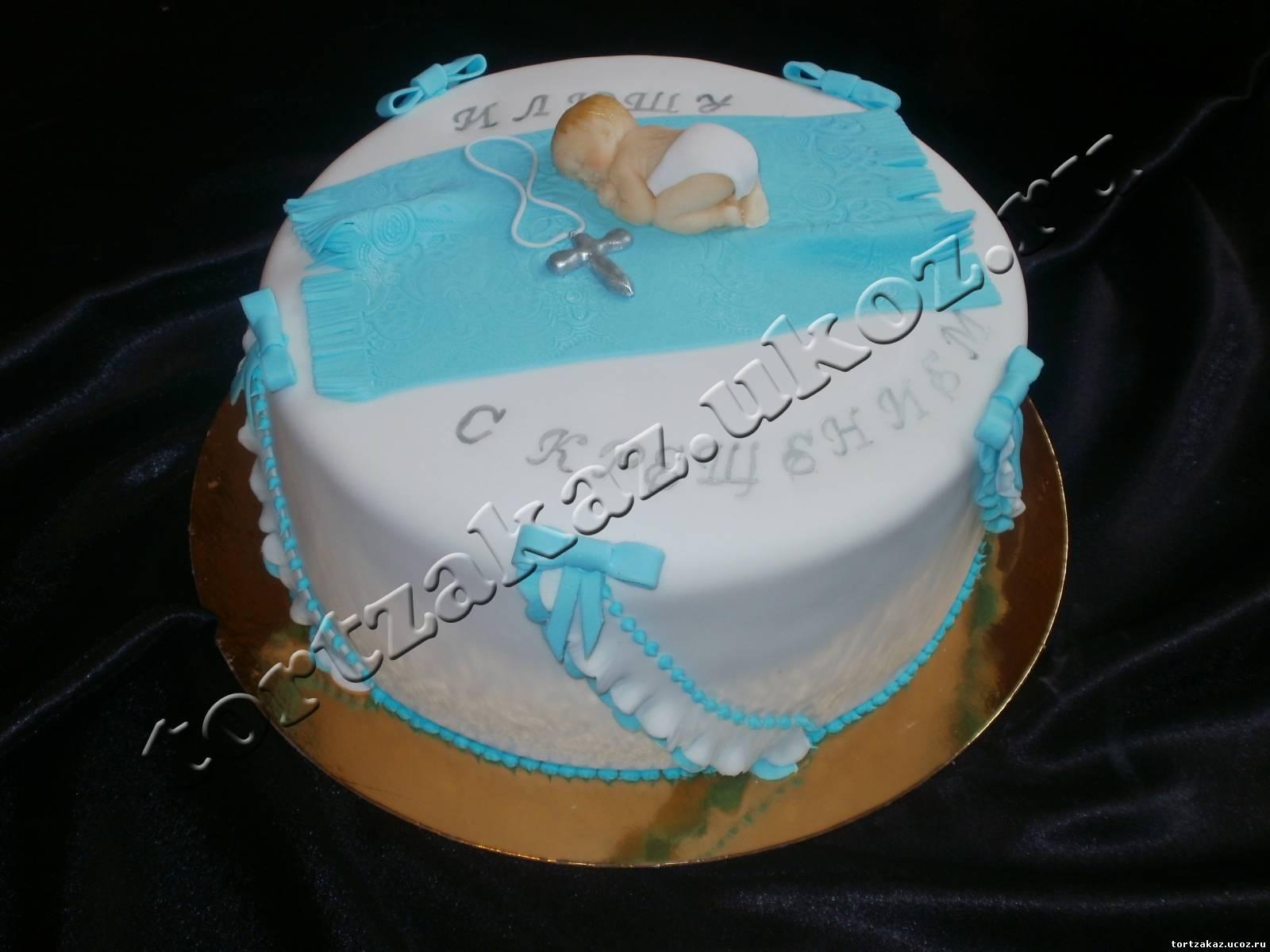 Торт для крестин мальчика фото своими руками